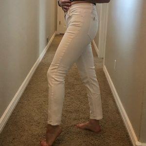 Joe's jeans white skinny ankle jeans